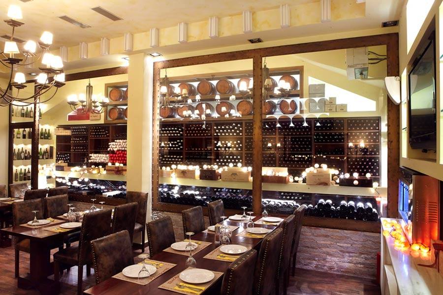 Telemachos-Kifisia-meat-restaurant-walk-in-wine-cellar